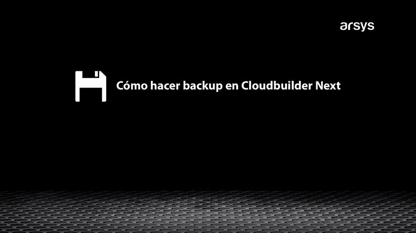 How to backup in Cloudbuilder Next